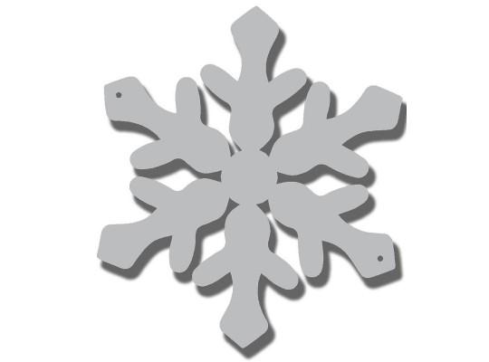 Vločka sněhová z lepenky-s otvory-průměr 17cm