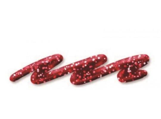 Třpytivá barva 3D glitter liner 28 ml - červená