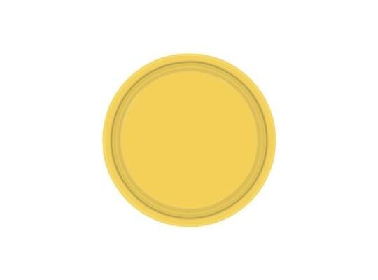 Talířek z papíru barevný-žlutý