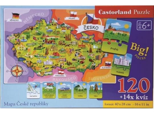Puzzle-mapa České republiky