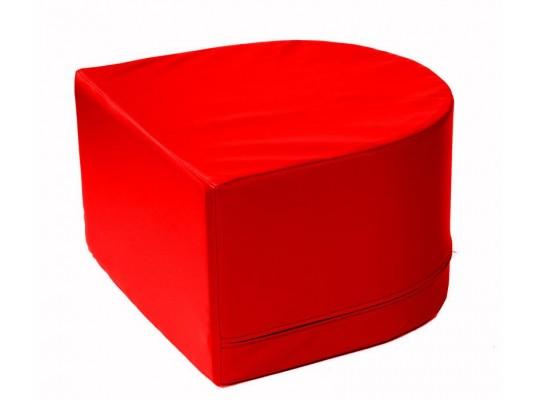 Stavebnice z PUR pěny housenka-koncová část-červená