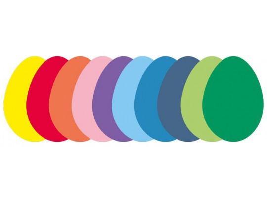Vajíčka papírová barevná                                                                                                                                                                                                                            (10ks)