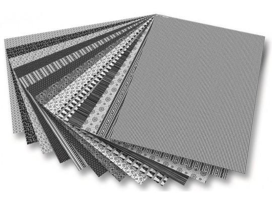 Blok motivy černobílé