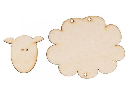 Ovečka dřevěná- 2 díly
