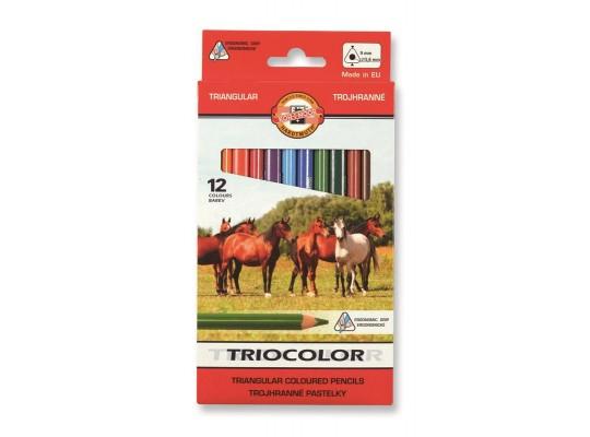 Pastelky Triocolor střední (12)