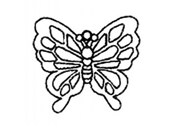 Sklíčko závěsné kontura motýl