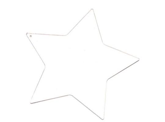 Sklíčko závěsné hladké hvězda