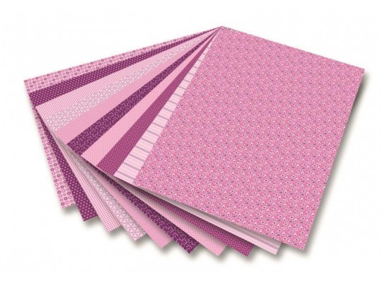 Blok dekorační - růžový (30listů)