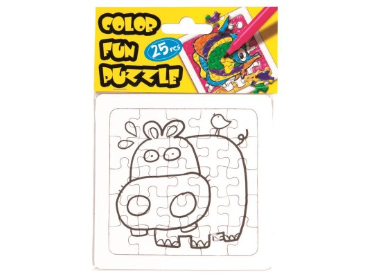 Puzzle z lepenky-zvířátko