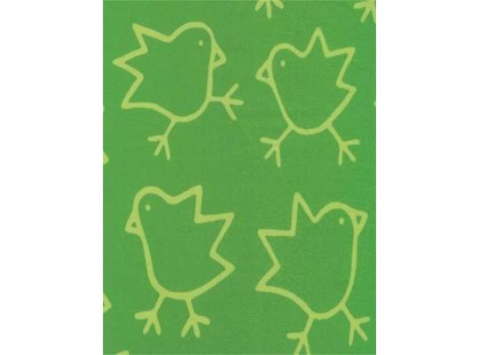 Látka mikroplyš-kuřátka zelená