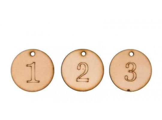 Medaile dřevěné (3ks)
