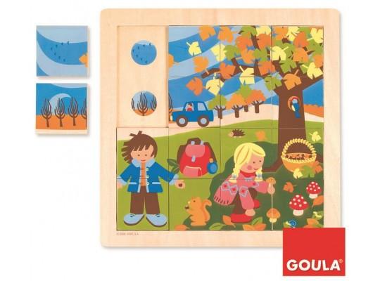 Puzzle dřevěné-roční období  podzim