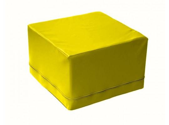 Stavebnice z PUR pěny housenka-kostka-žlutá