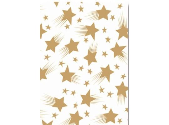 Transparentní papír hvězdy-bílý