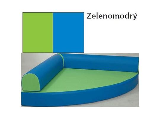 Relaxační sedací kout - koženka - zelenomodrý