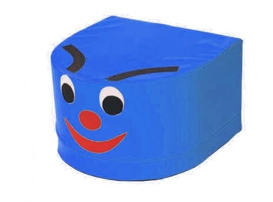 Stavebnice housenka hlava modrá