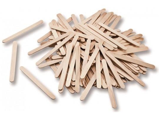 Špachtle dřevěné úzké-přírodní
