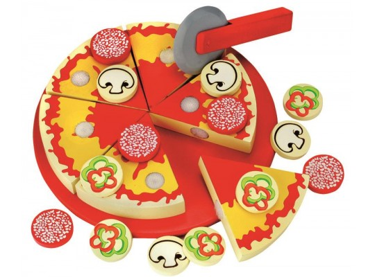 Pizza dřevěná na suchý zip/krájení