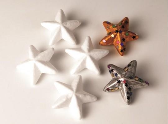 Polystyrenové hvězdy                                                                                                                                                                                                                                 (6ks)