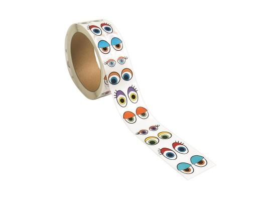 Oči dekorační samolepicí-barevné