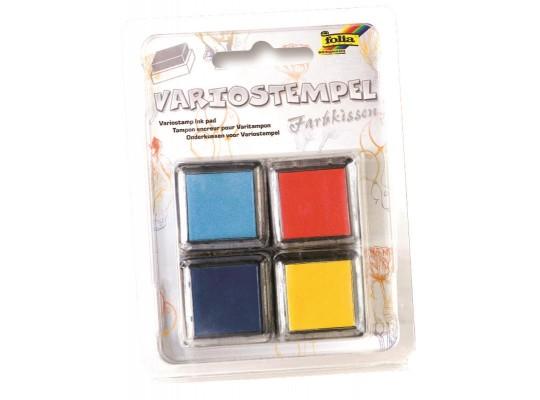 Razítkové polštářky 2x modrá, 1x oranžová, 1x žlutá