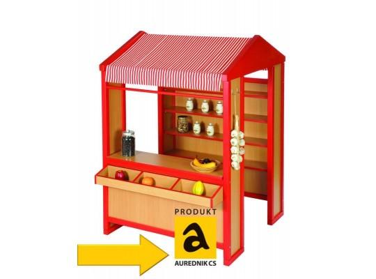 Obchod Aurednik se stříškou - žlutý