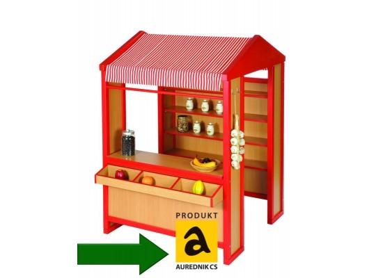Obchod Aurednik se stříškou - zelený
