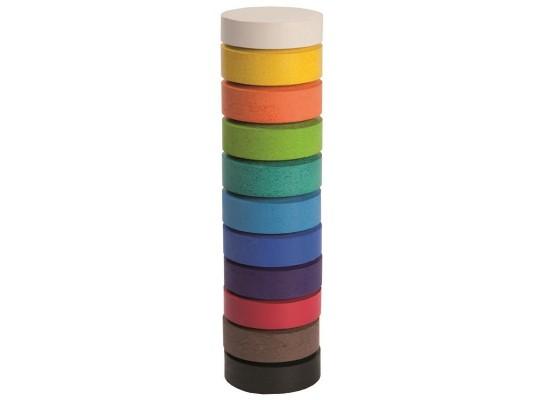 Vodová barva v tabletách - hnědá