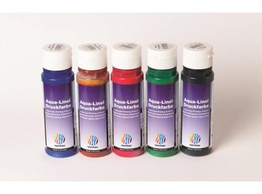 Barva na linoryt 200 ml - modrá
