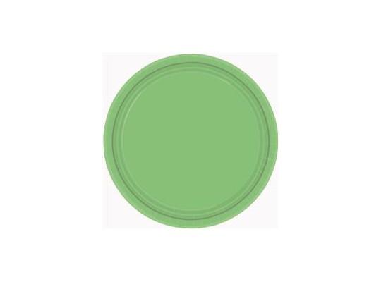 Talířky papírové barevné - zelené                                                                                                                                                                                                                    (8ks)