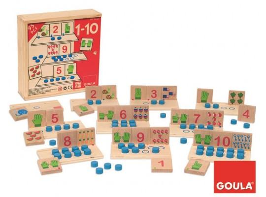 Počítání dřevěné od 1-10-hra didaktická