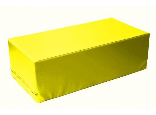 Stavebnice z PUR pěny housenka-kvádr-žlutá