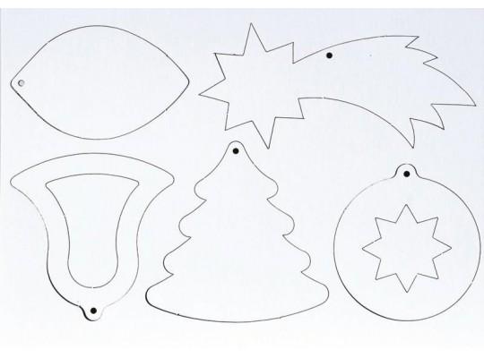 Vánoční ozdoby z lepenky                                                                                                                                                                                                                            (15ks)