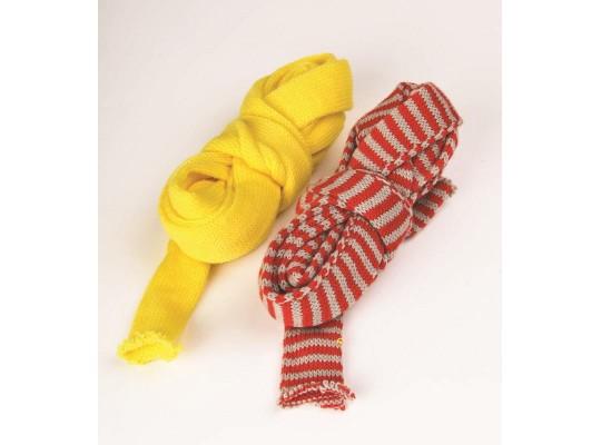 Pletený tubus - červenošedý