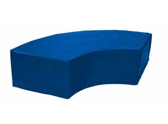 Stavebnice z PUR pěny housenka-oblouk-modrá