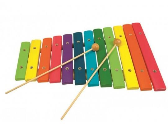 Xylofon dřevěný-12 tónů