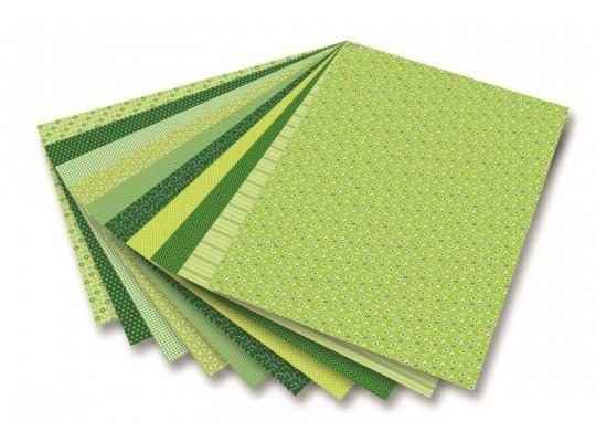 Blok Basic-motivy-zelený