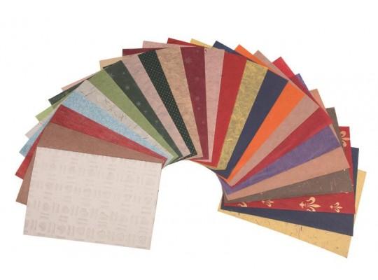 Vzorová sada přírodních papírů