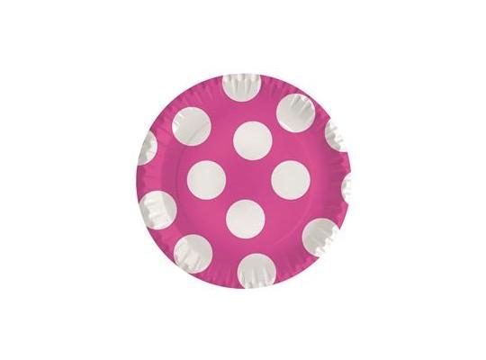 Talířek z papíru puntík-růžový