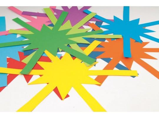 Hvězda z papíru barevná