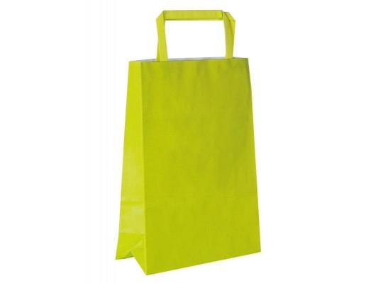 Taška z papíru-žlutozelená