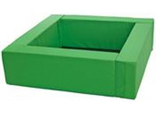 Bazén čtvercový zelený-koženka
