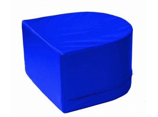 Stavebnice z PUR pěny housenka-koncová část-modrá
