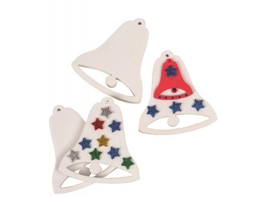 Pěnovka moosgummi zvonečky bílé
