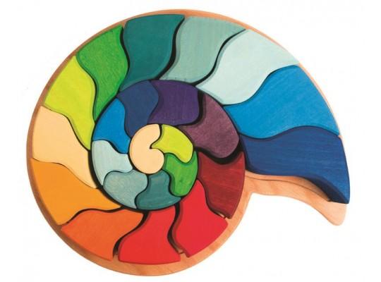 Mozaika dřevěná Grimm´s-hlemýžď amonyt