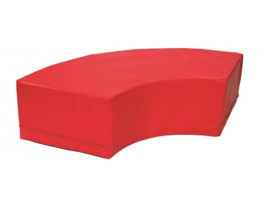 Stavebnice z PUR pěny housenka-oblouk-červená