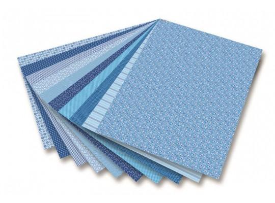 Blok dekorační-modrý