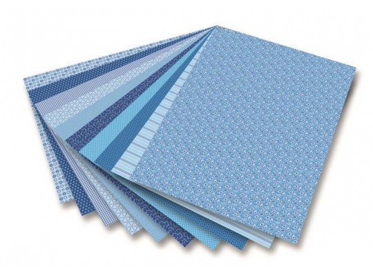 Blok dekorační - modrý (30listů)