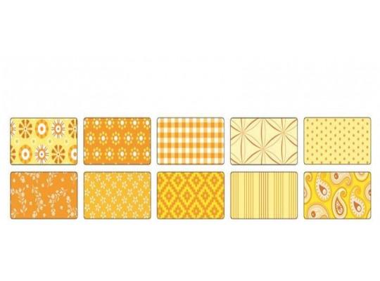 Papír na skládání dekorační-žlutý
