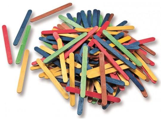 Špachtle dřevěné úzké-barevné